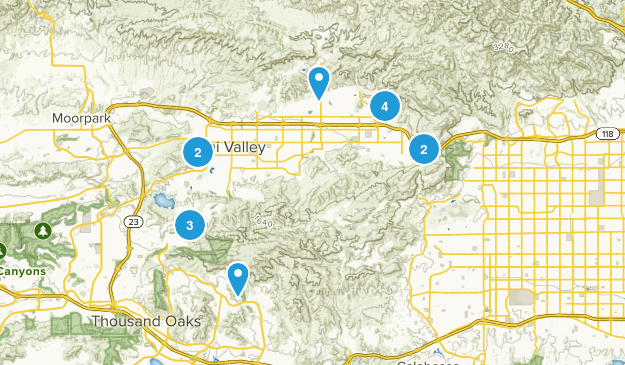 Simi Valley, California Nature Trips Map