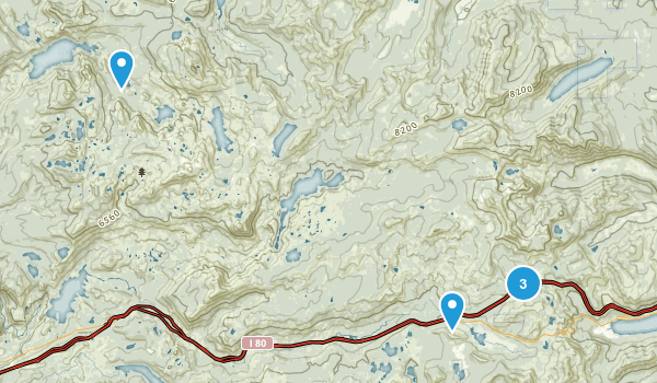 Soda Springs, California Camping Map