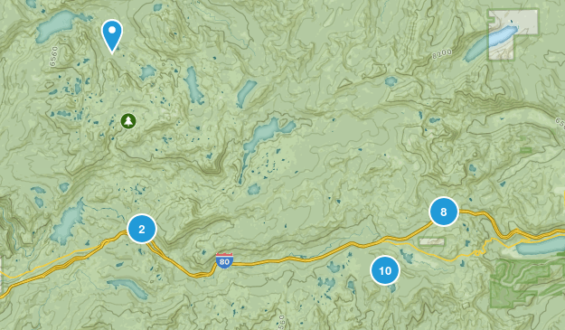 Soda Springs, California Forest Map