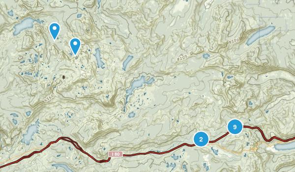 Soda Springs, California Hiking Map