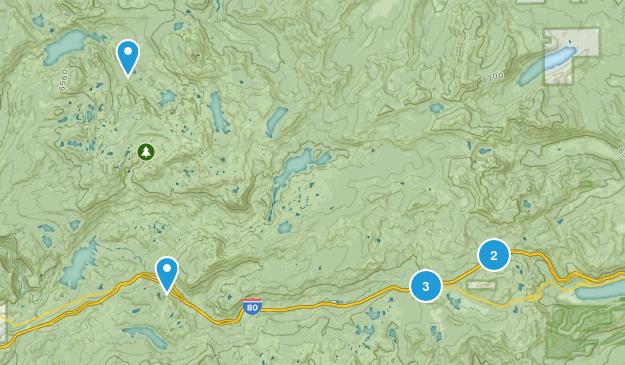 Soda Springs, California Lake Map