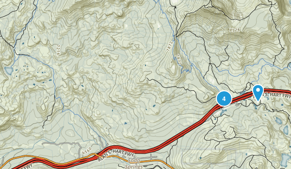 Soda Springs, California Snowshoeing Map