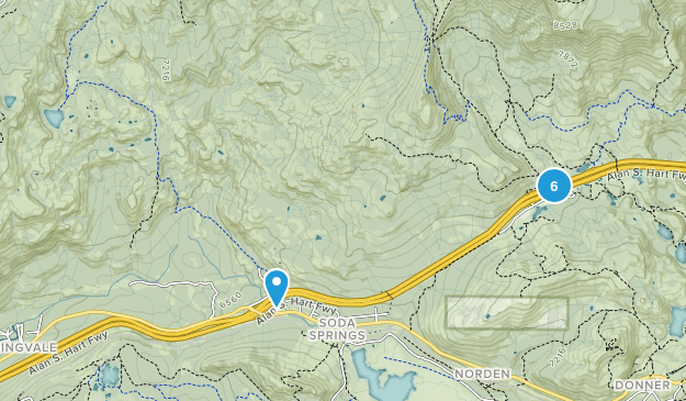 Soda Springs, California Trail Running Map