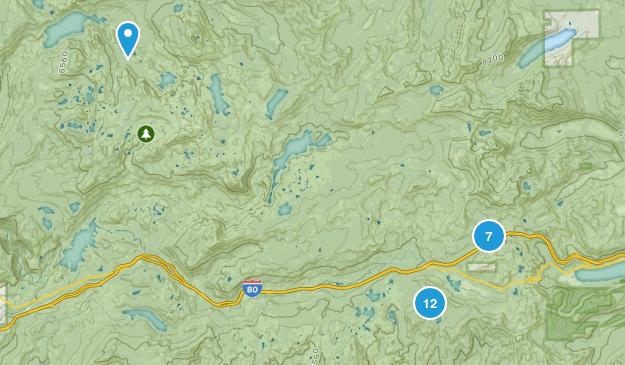 Soda Springs, California Walking Map