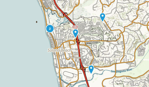 Solana Beach, California Nature Trips Map
