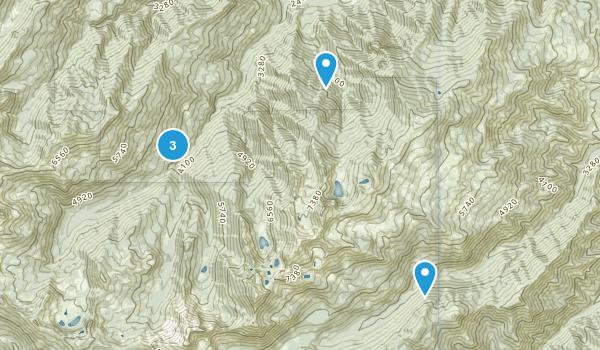 Somes Bar, California Lake Map