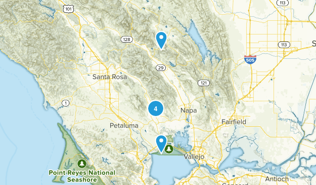 Sonoma, California Walking Map