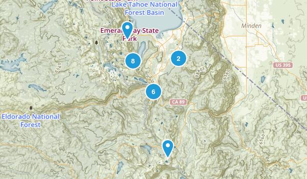South Lake Tahoe, California Backpacking Map