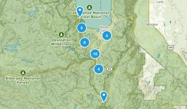 South Lake Tahoe, California Birding Map
