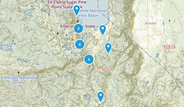 South Lake Tahoe, California Camping Map