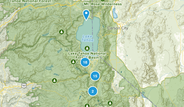 South Lake Tahoe, California Dogs On Leash Map