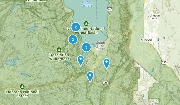 South Lake Tahoe, California No Dogs Map