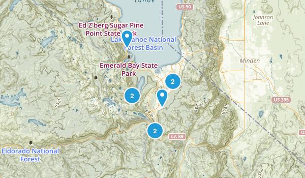 South Lake Tahoe, California Fishing Map