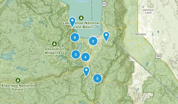 South Lake Tahoe, California Kid Friendly Map