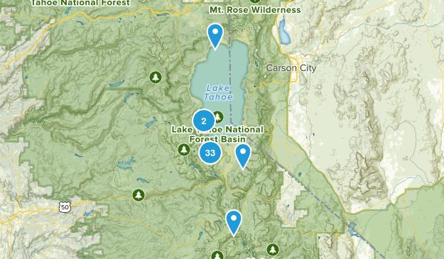South Lake Tahoe, California Lake Map