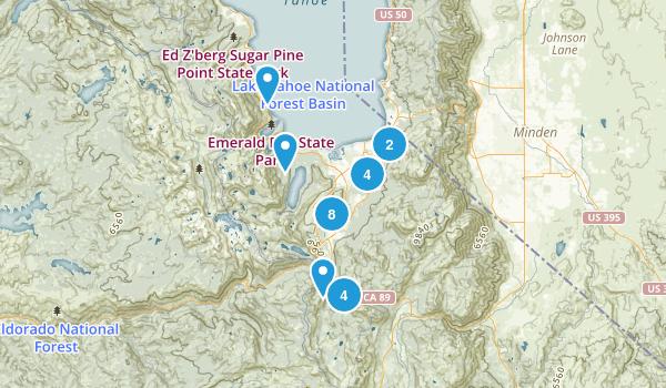 South Lake Tahoe, California Mountain Biking Map