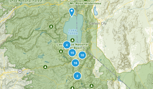 South Lake Tahoe, California Nature Trips Map