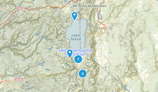 South Lake Tahoe, California River Map