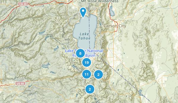 South Lake Tahoe, California Trail Running Map