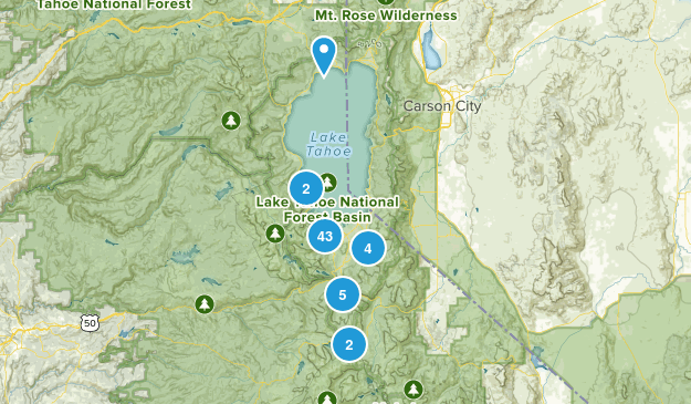 South Lake Tahoe, California Views Map