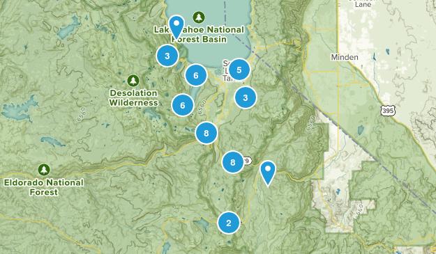 South Lake Tahoe, California Walking Map