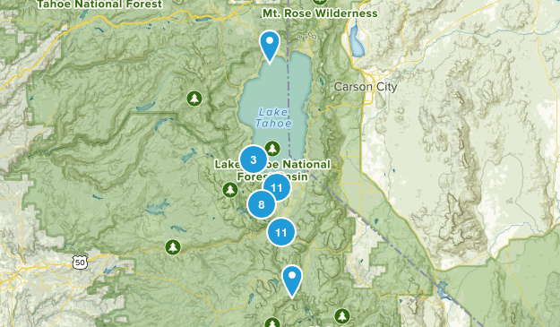 South Lake Tahoe, California Wildlife Map
