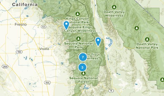 Springville, California Camping Map