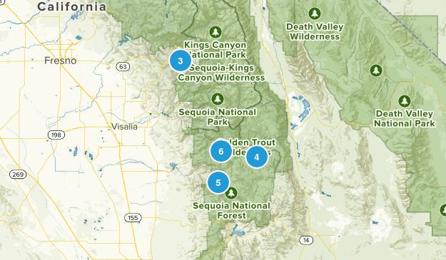 Springville, California Dogs On Leash Map