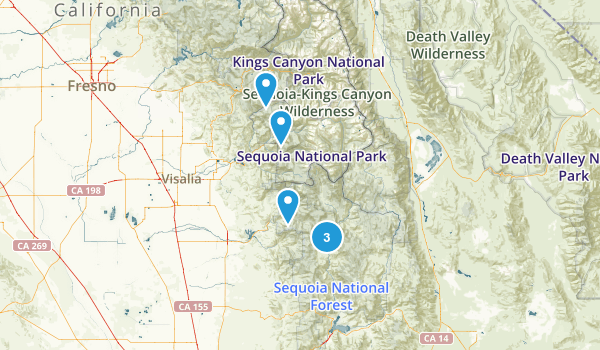 Springville, California Fishing Map