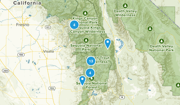 Springville, California Forest Map
