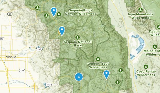 Springville, California Horseback Riding Map