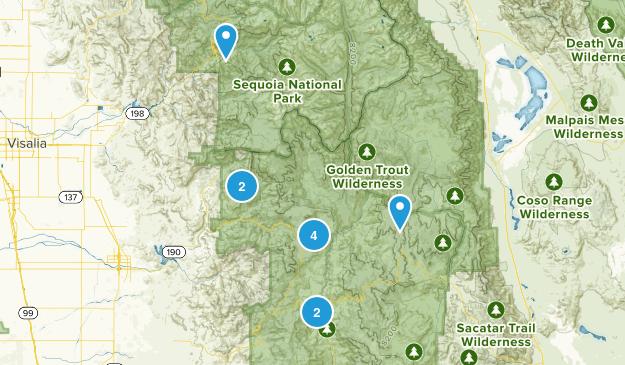 Springville, California River Map
