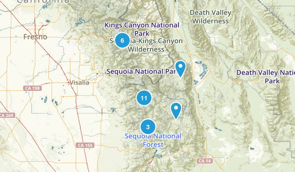 Springville, California Wildlife Map