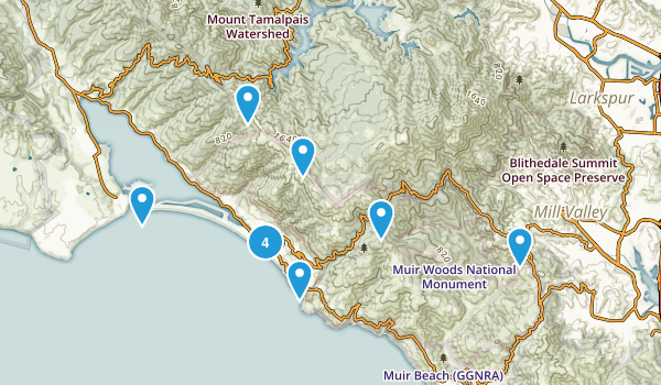 Stinson Beach, California Beach Map