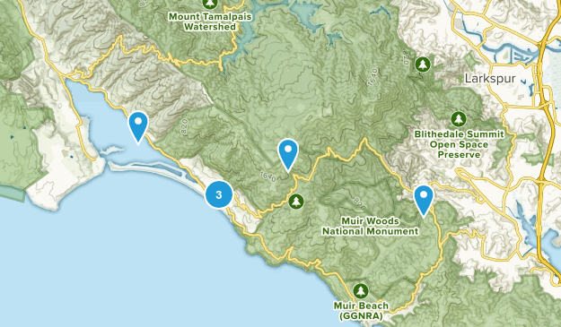 Stinson Beach, California River Map