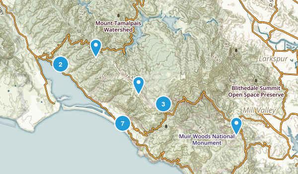 Stinson Beach, California Trail Running Map