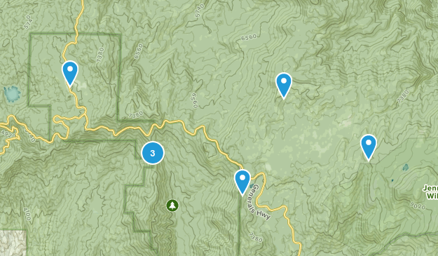 Stony Creek Village, California Hiking Map