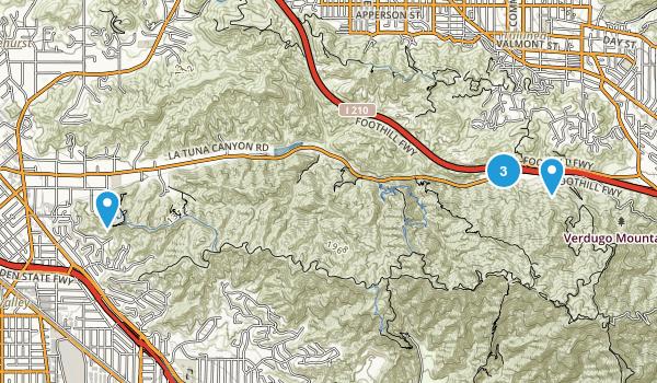 Sun Valley, California Dogs On Leash Map