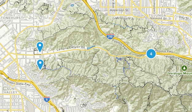Sun Valley, California Dogs On Leash Map