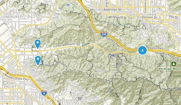 Sun Valley, California Trail Running Map