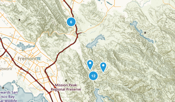 Sunol, California Trail Running Map