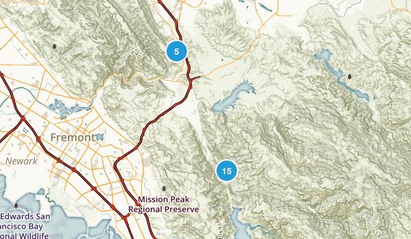 Sunol, California Walking Map