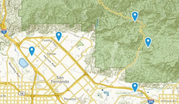 Sylmar, California Views Map