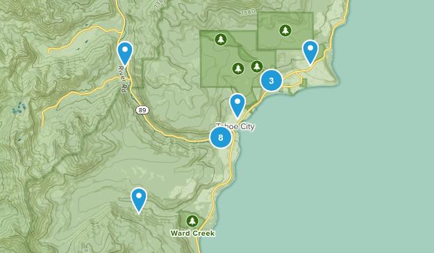 Tahoe City, California Nature Trips Map