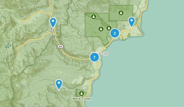 Tahoe City, California Walking Map