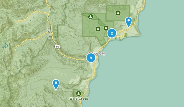 Tahoe City, California Wildlife Map