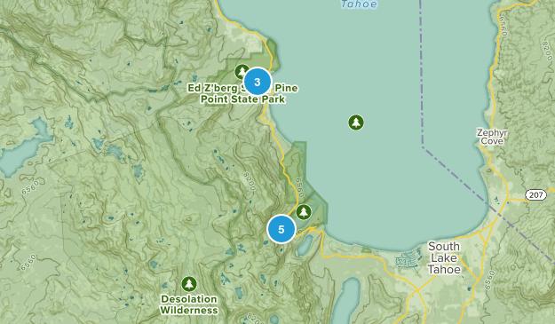 Tahoma, California Backpacking Map