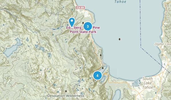 Tahoma, California Dogs On Leash Map