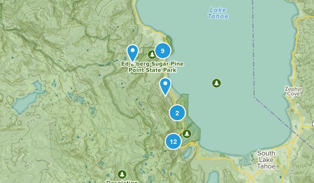Tahoma, California Hiking Map