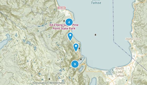 Tahoma, California Lake Map